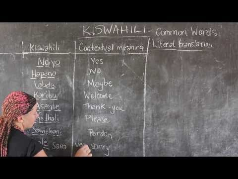 Video #6 - GO! presents: BEST Swahili Tutorials - COMMON WORDS (live from Tanzania)