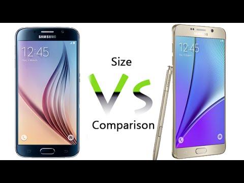 Galaxy S6 vs Galaxy Note 5 - Size Comparison - YouTube