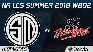 TSM vs 100 Highlights NA LCS Summer 2018 W8D2 Team Solo Mid vs 100Thieves by Onivia