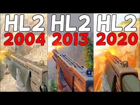 Half-Life 2 - Vanilla Vs. Cinematic Vs. Redux - Weapons Comparison 4K 60FPS