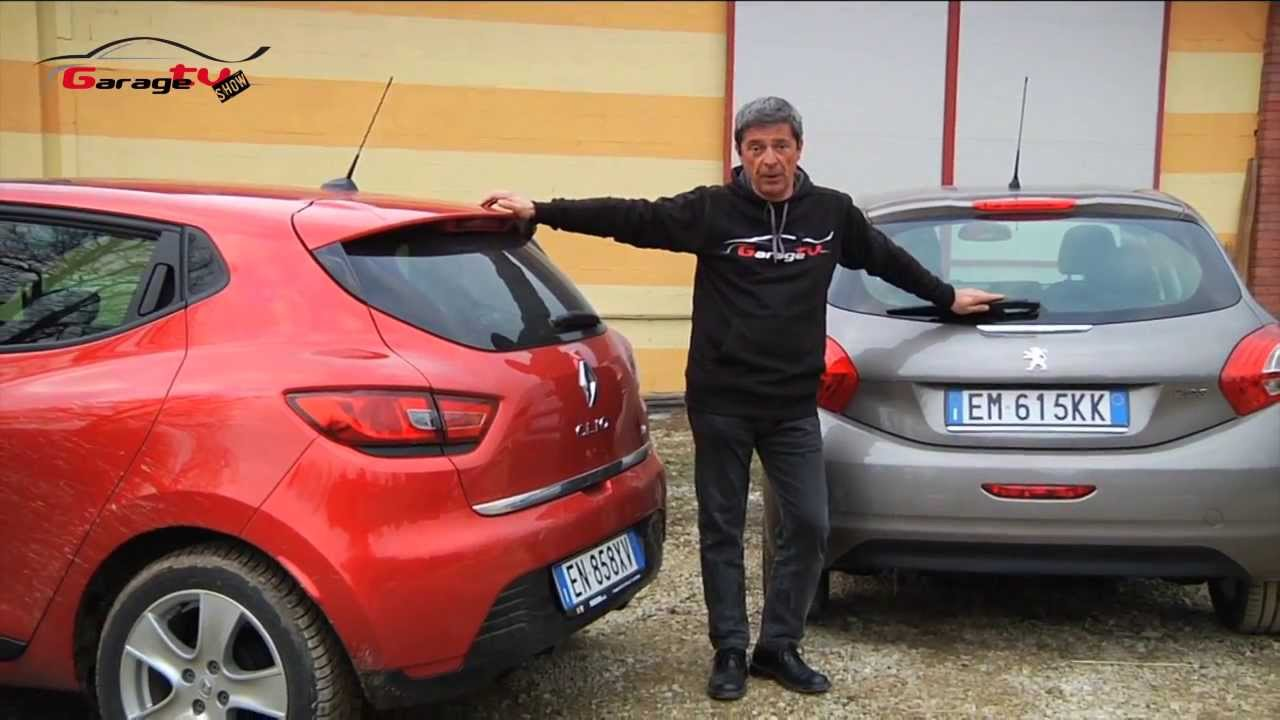 peugeot 208 vs renault clio 2012 prova comparativa gtv youtube. Black Bedroom Furniture Sets. Home Design Ideas