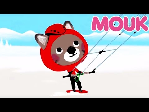 Mouk - Mouk in the snow: follow that kite (Canada) and old friends (Russia) |Winter cartoon for kids