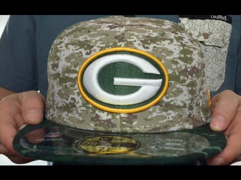 Packers  2015 SALUTE-TO-SERVICE  Desert-Green Fitted Hat by New Era ... 64a138da3d0