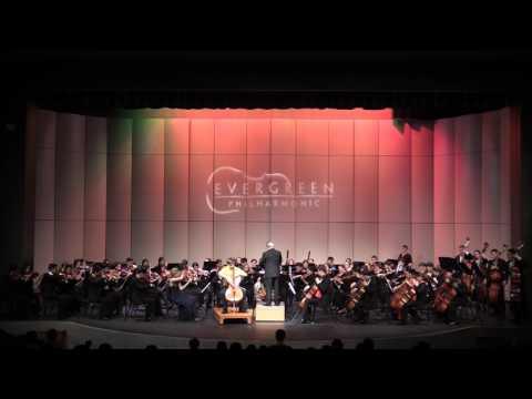 Evergreen Philharmonic Concerto Concert 2016 Ben Richardson Elgar Cello Concerto