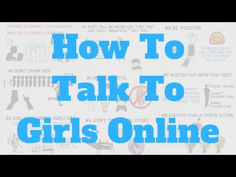 Starting a conversation with a girl online