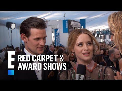 The Crown Actors Are Starstruck at  SAG Awards  E Red Carpet & Award Shows