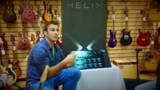 Paul Hindmarsh demos the Line 6 Helix at GuitarGuitar