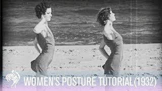 Elizabeth Arden Lectures Women on Posture (1932)