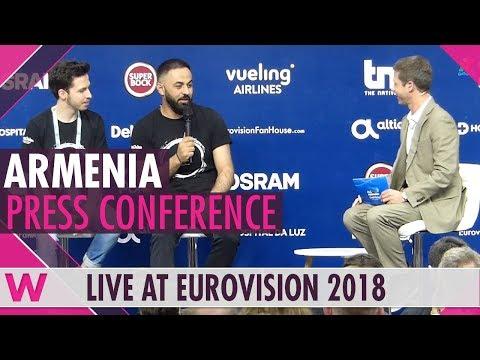 "Armenia Press Conference: Sevak Khanagyan ""Qami"" @ Eurovision 2018 | wiwibloggs"