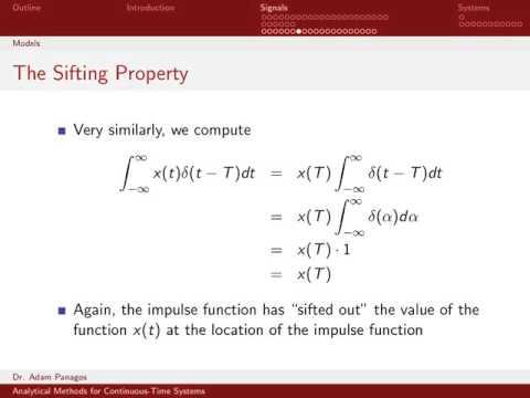 The Continuous-Time Unit Impulse Function 3/4