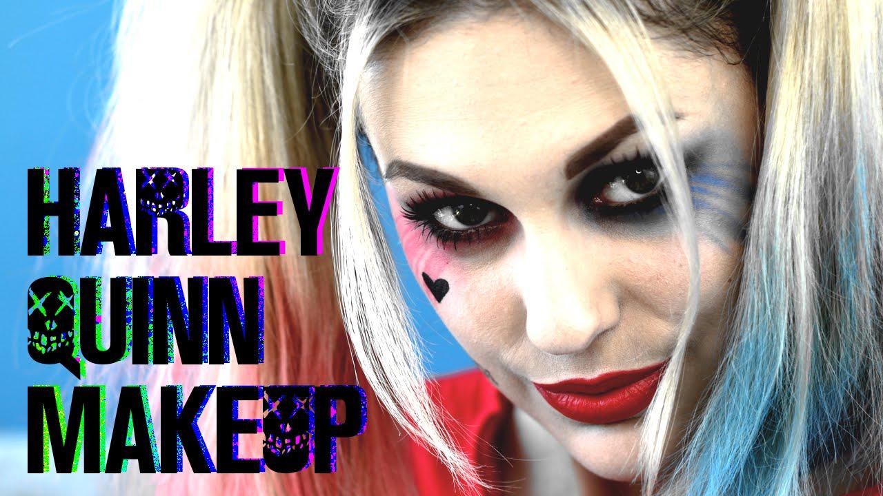 Halloween Schminken Deutsch.Harley Quinn Makeup Tutorial Deutsch Suicide Squad