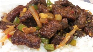 Spicy Crispy Beef - How to make Crispy Beef Stir Fry Recipe