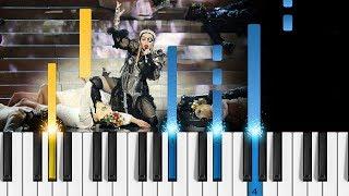Madonna, Quavo - Future (Eurovision 2019) - EASY Piano Tutorial