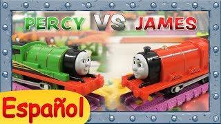Percy vs James | Quién ganará la COPA? | TrackMaster | Thomas y sus Amigos