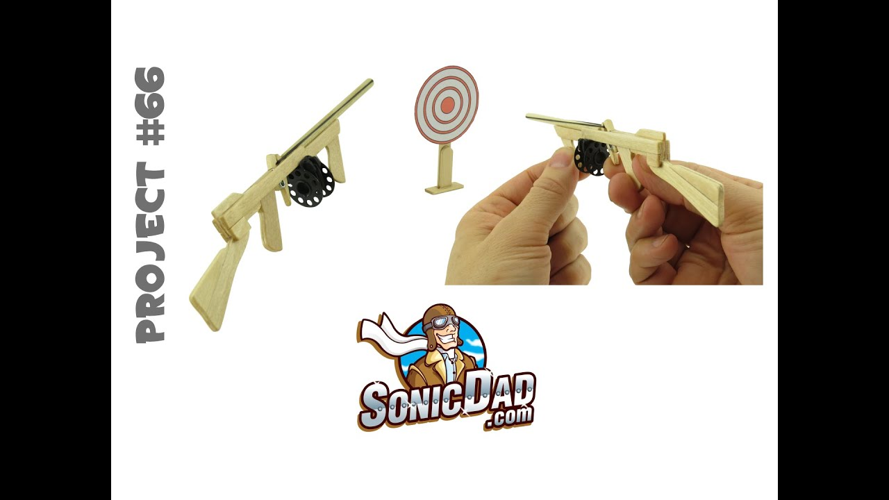 The Sonic Micro Tommy Rubber Band Gun Project 66 Youtube