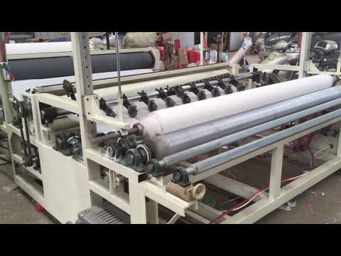 Jumbo toilet paper roll making machine testing run