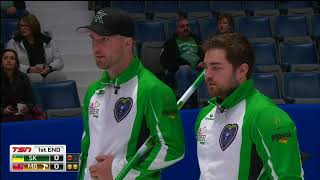 Laycock (SK) vs. Carruthers (MB) - 2018 Tim Hortons Brier - Draw 3
