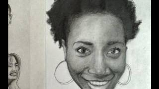 Pencil Drawing Tips- Smile Expression- Demonstration How to Draw and Shade a Realistic Face