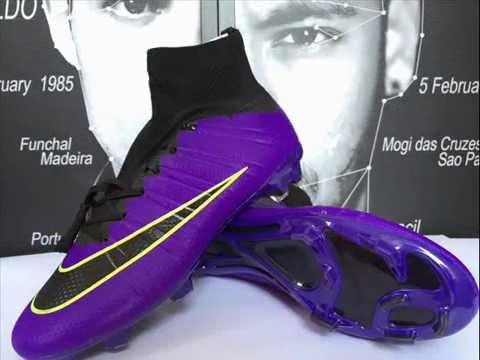 2015 New Nike Mercurial Superfly FG Soccer Shoes Purple Black