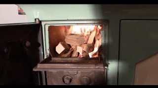 Kalamazoo wood cook lighting the first fire (update 6)