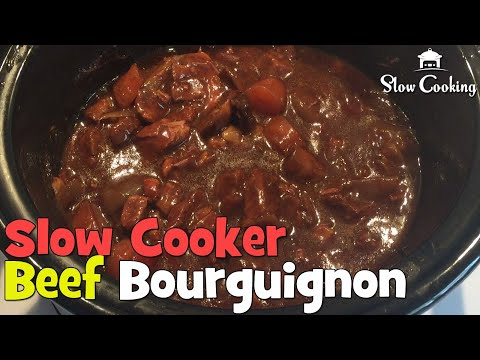 The Best Slow Cooker Beef Bourguignon On The Internet, Simply Beautiful