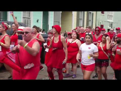 Red Dress Run 2016 in New Orleans