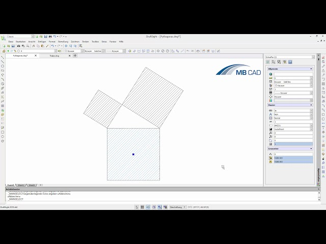 DraftSight: Mathematische Gesetze veranschaulichen