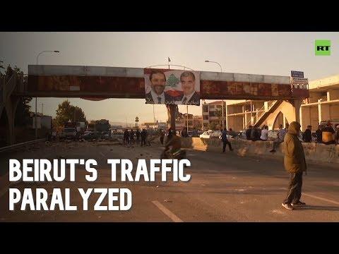 Protesters block roads in Lebanon