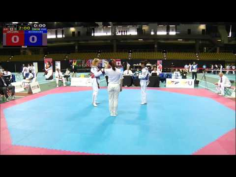 Under-53kg Latika Bhandari (india) Vs Leclerc (CAN) At Commonwealth Taekwondo Championship 2017.