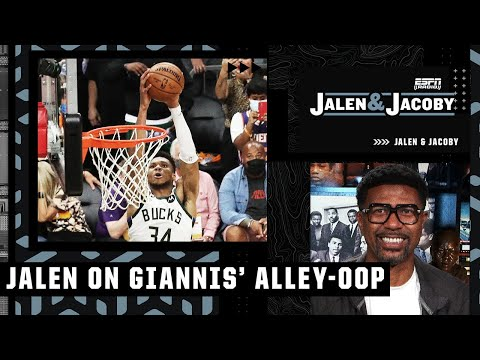 Jalen reacts to Jrue Holiday's lob to Giannis in Game 5: 'Sequence for the ages!'   Jalen and Jacoby