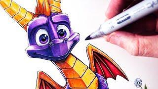 Let's Draw SPYRO THE DRAGON - SPYRO REIGNITED TRILOGY - FAN ART FRIDAY