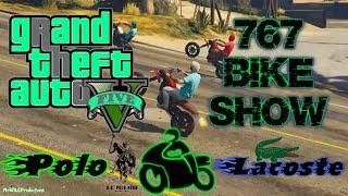 GTA V Online:🏍Bike Show Polo Vs Lacoste #1🏍(767 Bike life )
