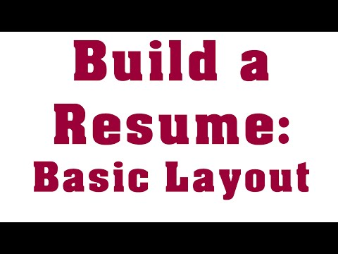 How To Write a Professional Entry Level Resume