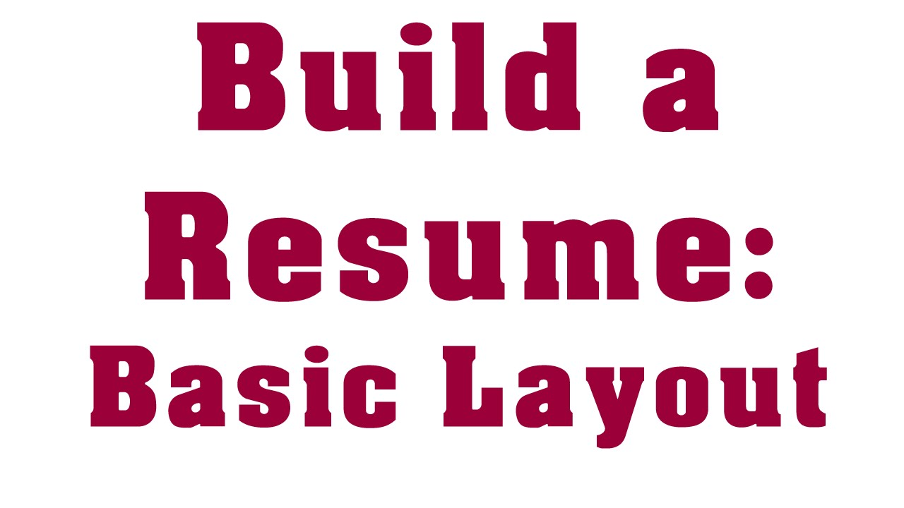 how to write a professional entry level resume youtube
