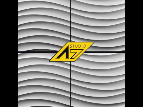 Качественные 3д панели из гипса для внутренней отделки стен от компании A7Studio