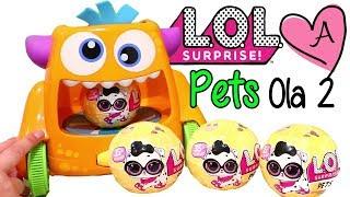 Monstruo abre LOL Pets Ola 2 COMPLETA   Muñecas y juguetes con Andre para niñas y niños