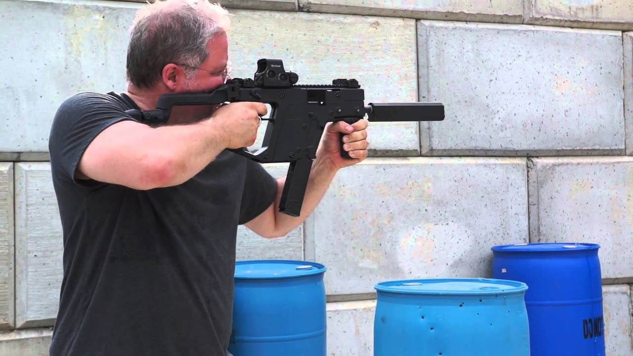 Shooting A Kriss Vector 45 Acp Sbr With Suppressor By