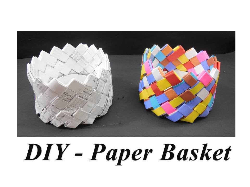 Diy How To Make Paper Basket Youtube
