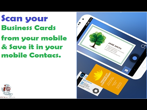 Mobile App To Scan Business Cards Youtube