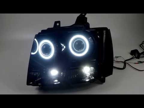 Chevy Tahoe - Custom Headlights - Dual Projector, Demon Eyes, Halos & More!