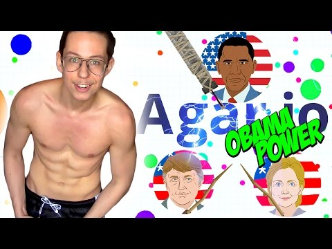 OBAMA IS KING - Let's Play Agar.io 60 FPS - Part 1 LIVE STREAM