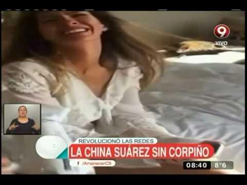 """El inocente video de la """"China"""" Suárez que terminó siendo muy hot thumbnail"""
