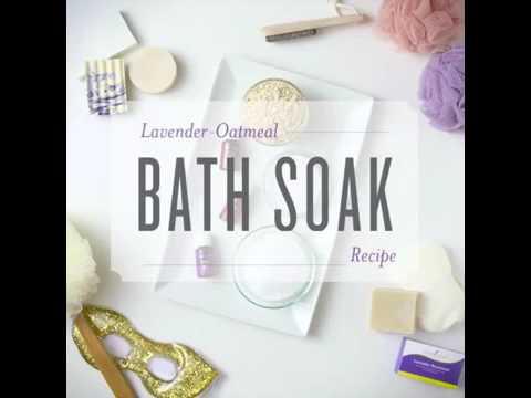 DIY Lavender-Oatmeal Bath Soak with essential oils
