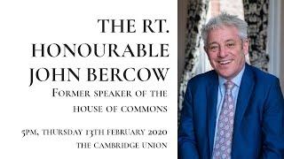 The Rt. Hon. John Bercow | Interview | Cambridge Union (1/2)
