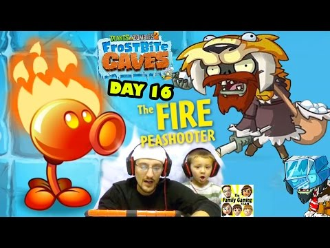 The Fire Pea Is MINE!! Dad Plays Day 16 In PVZ 2: Frostbite Caves (Plants Vs. Zombies IPad Gameplay)