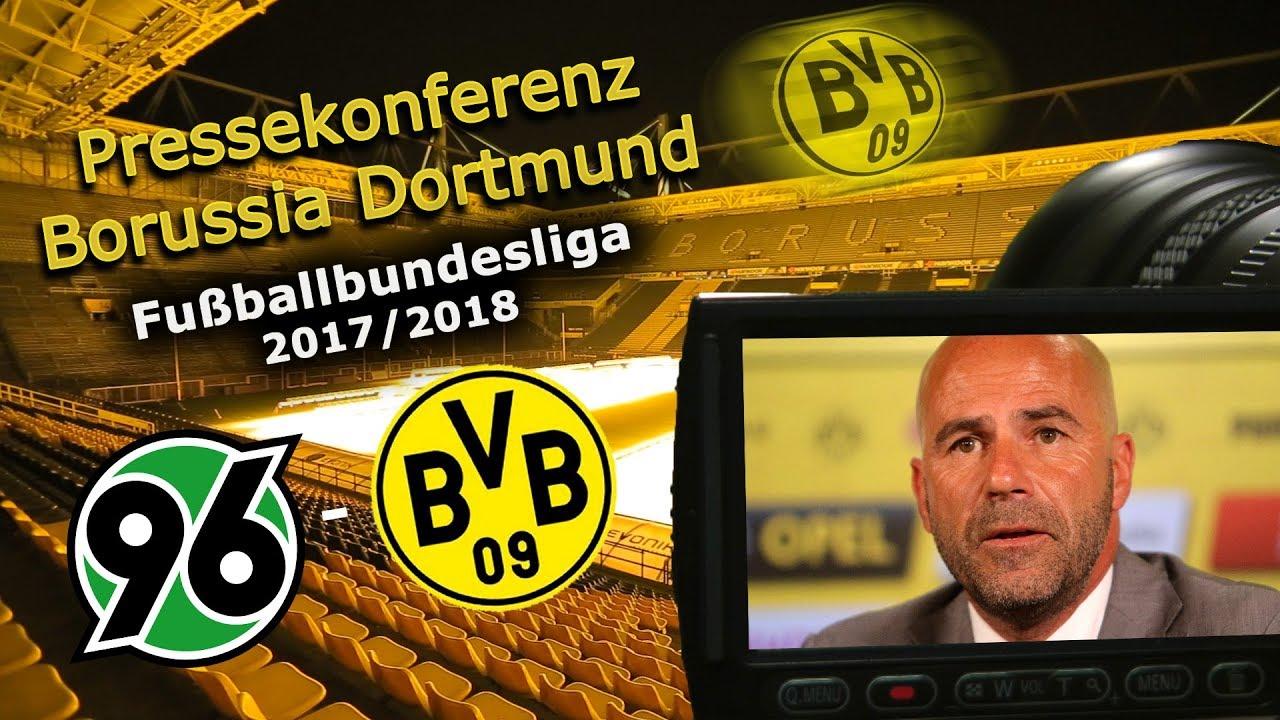 Hannover 96 - Borussia Dortmund: Pk mit Peter Bosz
