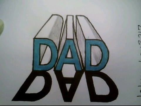 How To Draw The Word Dad In 3d Casting A Shadow 1 One Point