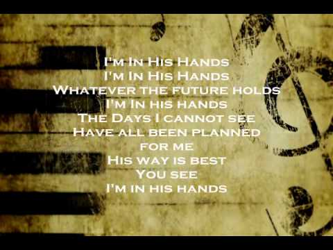 I'm In His Hands Backing Track