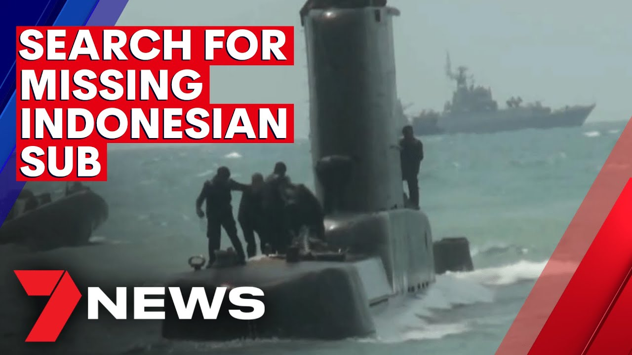 Search continues for missing Indonesian submarine | 7NEWS