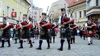 21. mezinárodní dudácký festival Strakonice 2014 - Slavnostní průvod městem